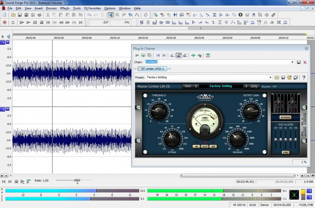 Logiciel de mastering Sound Forge PRO 10